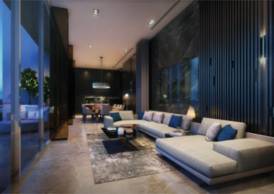 new-launch-singapore-avenue-south-residence-artist-impression-roof-function-room-night